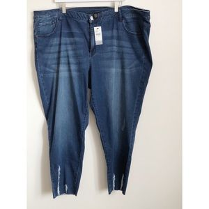 Lane Bryant medium washed distressed skinny jeans